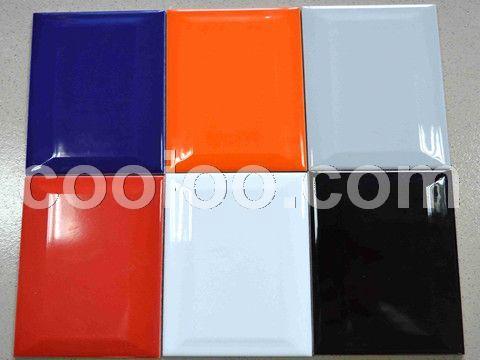 新款大量供货斜边纯色瓷片 彩色墙砖 工程出口瓷砖